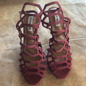 Steven Madden red suede heels